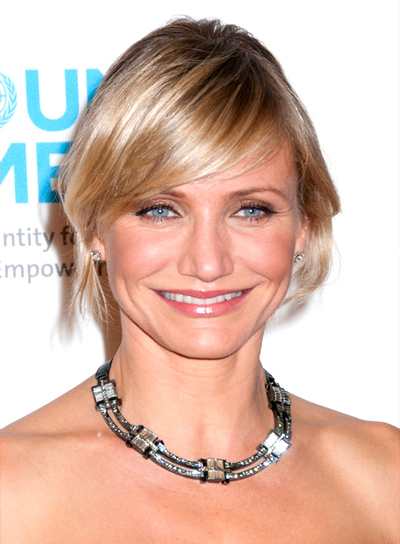 File 4087 Cameron Diaz Short Blonde Updo Hairstyle Bangs