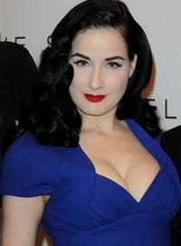 Dita Von Teese Good Colors for Black Hair