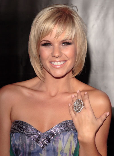Kimberly Caldwell Short Blonde Hairstyle With Bangs