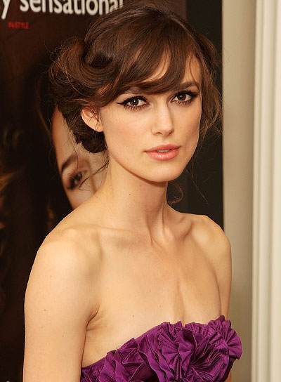 Homecoming hairstyles with bangs beauty riot keira knightley sophisticated updo with bangs pmusecretfo Choice Image