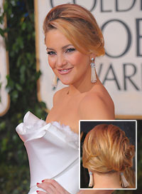 Kate Hudson Best Hairstyle for a Strapless Dress