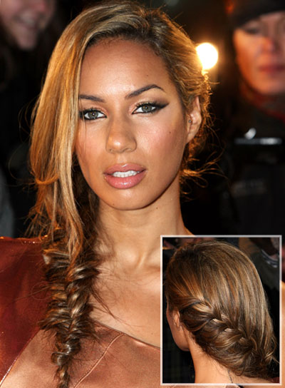 Leona Lewis Long Funky Hairstyle With Braids And Twists