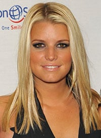 Worst Haircut for Round Faces Jessica Simpson