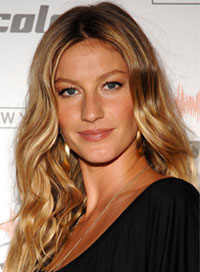 Most popular hairstyles Gisele Bundchen