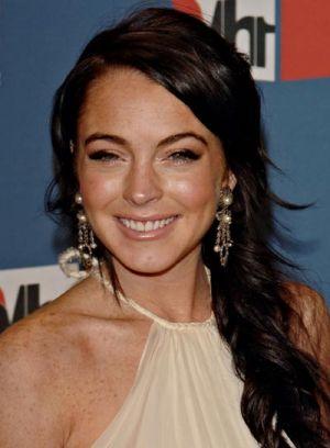 Lindsay lohan dark hair