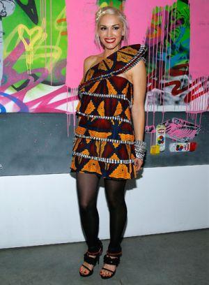 celebrities at fashion week gwen stefani