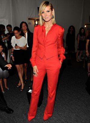 celebrities at fashion week heidi klum