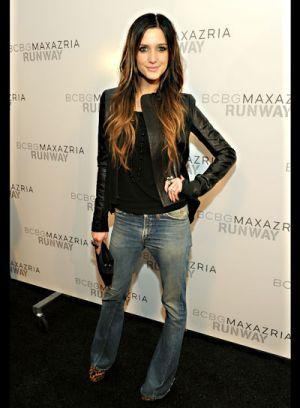 celebrities at fashion week ashlee simpson