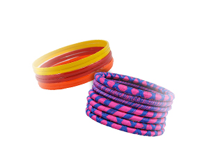 Bright thread and shiny bangles for summer