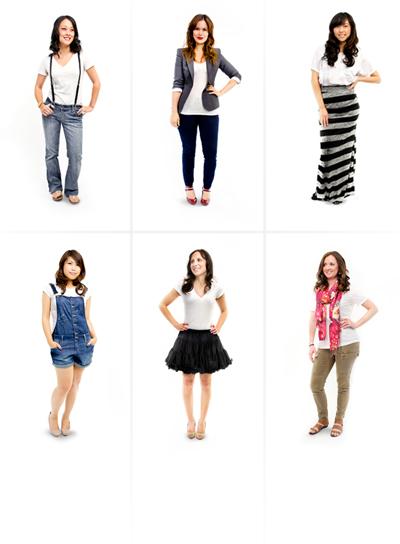 10 Ways to Wear a White T-Shirt