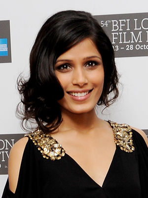 frieda pinto hairstyle