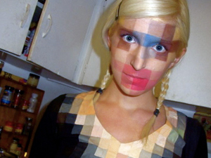 halloween costume 2011 pixelated face