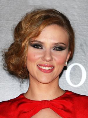scarlett johansson diamond face shape hairstyle