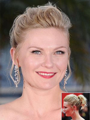 kirsten dunst round face shape hairstyle