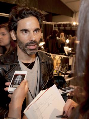 fashion week james kaliardos for MAC