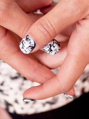 marble minx foil nail art