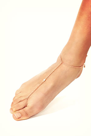 nasty gal rose gold diamond ankle chain