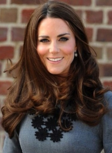 Hairstyle For Long Thick Hair Kate Middleton Beauty Riot