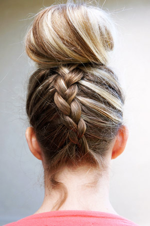 Easy summer hairstyles braids french braided topknot solutioingenieria Image collections