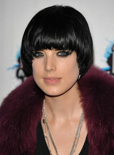 Agyness Deyn Straight, Black Bob with Bangs