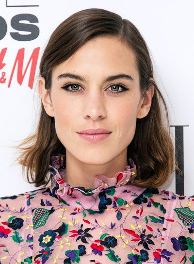 Alexa Chung with a Short, Straight, Brunette, Edgy Hairstyle Pictures