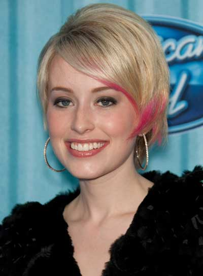 Alexis Grace Short, Blonde, Straight, Funky Hairstyle
