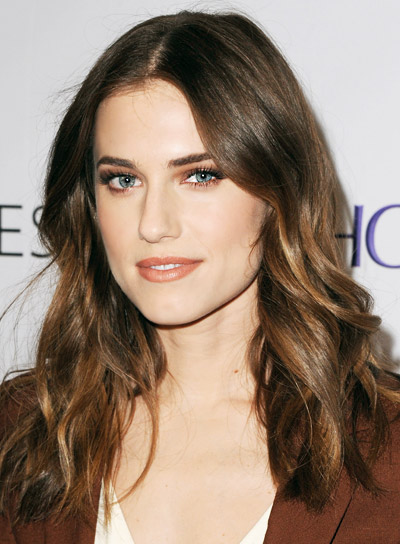 Allison Williams Medium, Wavy, Brunette, Sexy Hairstyle