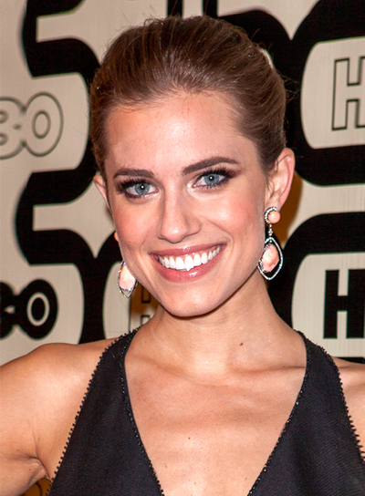 Allison Williams' Chic, Sophisticated, Brunette, Updo Hairstyle