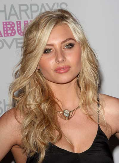 Alyson Michalka Long, Wavy, Blonde Hairstyle
