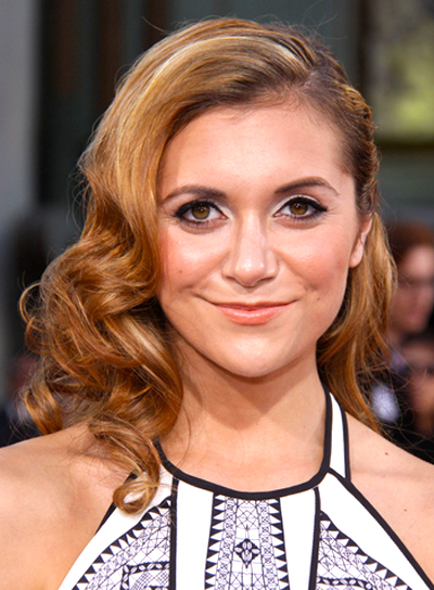 Alyson Stoner's Medium, Sophisticated, Romantic, Curly Hairstyle