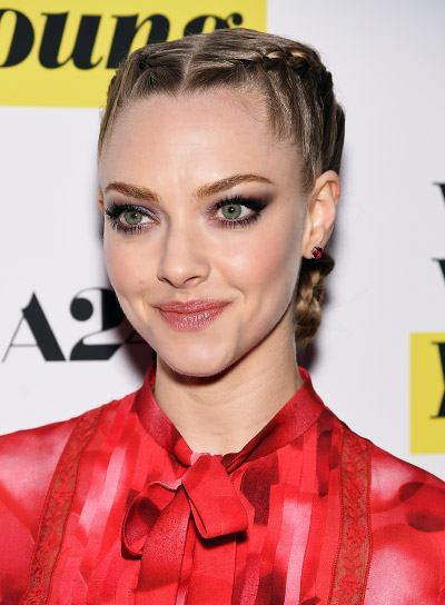 Amanda Seyfried with a Long, Blonde, Funky Hairstyle with Braids and Twists Pictures