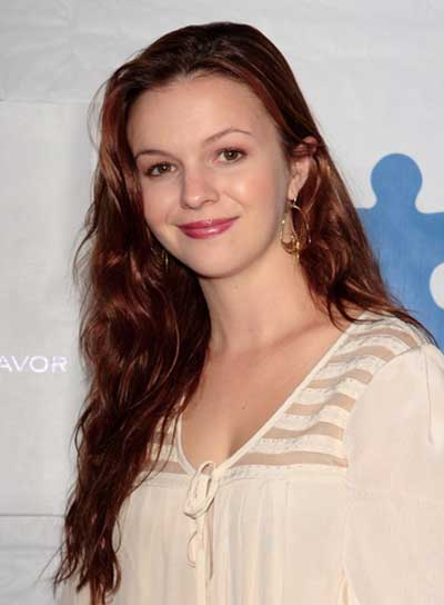 Amber Tamblyn Long, Wavy, Tousled, Brunette Hairstyle