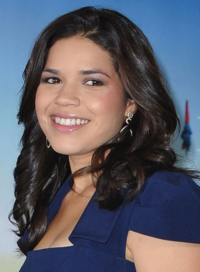 America Ferrera Medium, Curly, Brunette Hairstyle