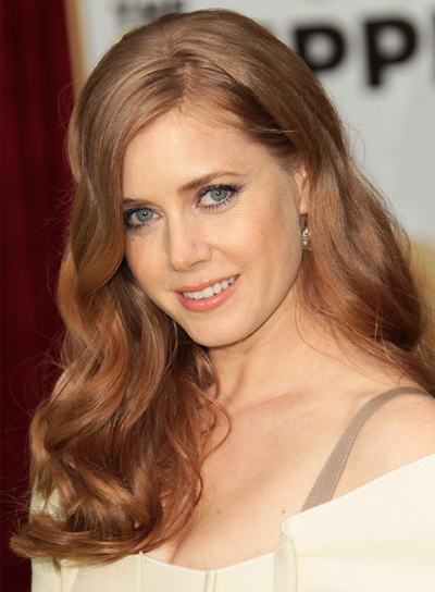 Amy Adams Curly, Romantic, Tousled, Red Hairstyle