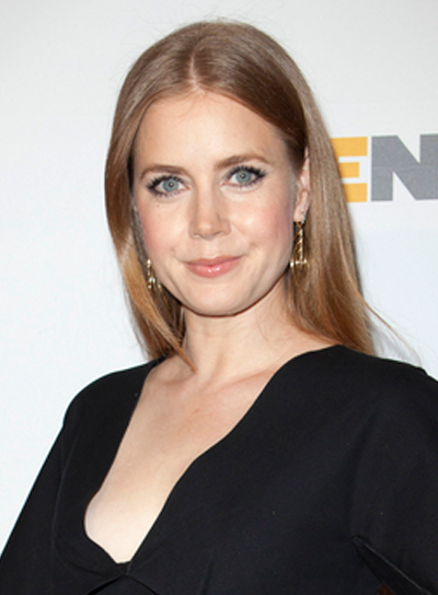 Amy Adams' Long, Chic, Straight, Red, Hairstyle