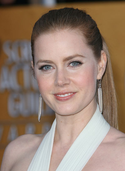 Amy Adams Straight, Chic, Red Ponytail