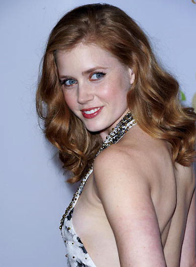 Amy Adams Wavy, Romantic, Red Hairstyle