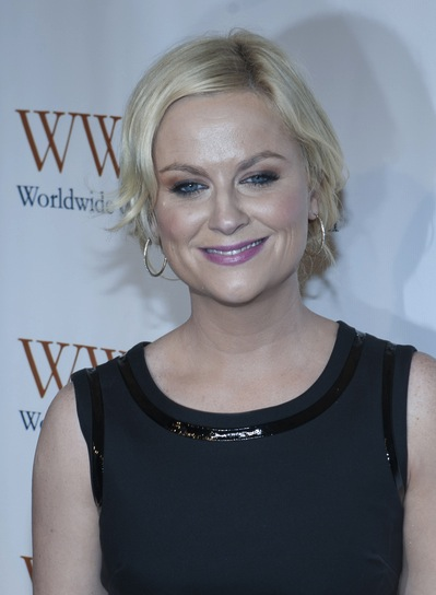 Amy Poehler Short, Blonde, Curly Updo