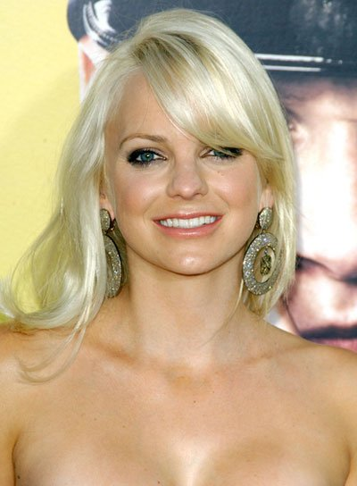 Anna Faris Romantic, Blonde Hairstyle with Bangs