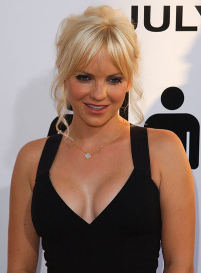 Anna Faris Romantic, Curly, Blonde Updo