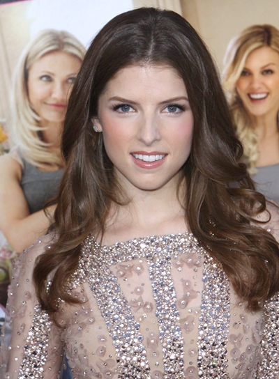 Anna Kendrick's Sophisticated, Layered, Long, Brunette Hairstyle