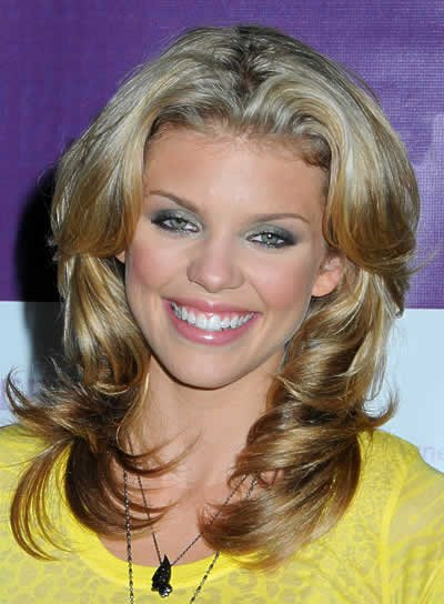 AnnaLynne McCord Long, Wavy, Blonde Hairstyle