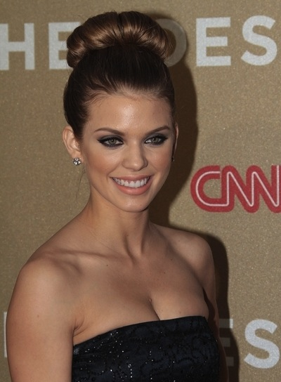 AnnaLynne McCord Chic, Party, Prom, Wedding, Brunette Hairstyle