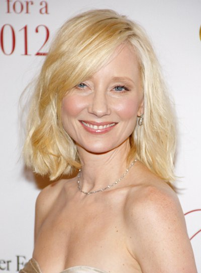 Anne Heche's Medium, Wavy, Romantic, Bob Hairstyle