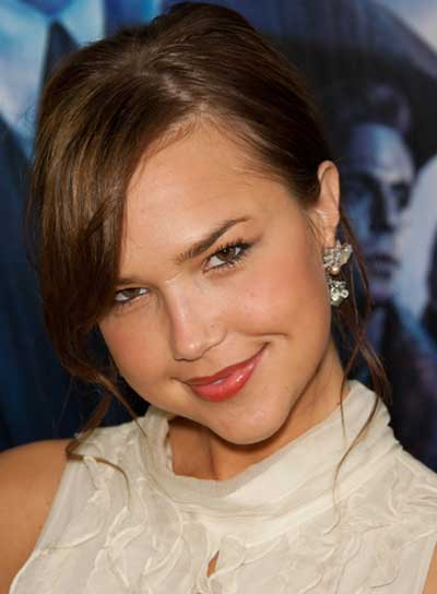 Arielle Kebbel Romantic, Curly, Brunette Updo