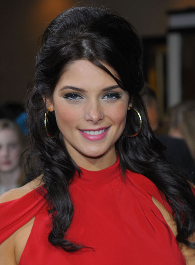 Ashley Greene Curly Half Updo for Prom