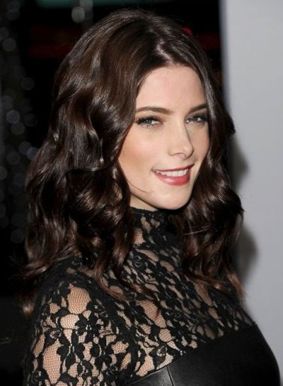 Ashley Greene Long, Curly, Formal, Romantic, Brunette Hairstyle
