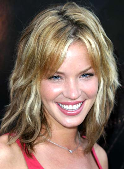 Ashley Scott Medium, Tousled, Shag Hairstyle