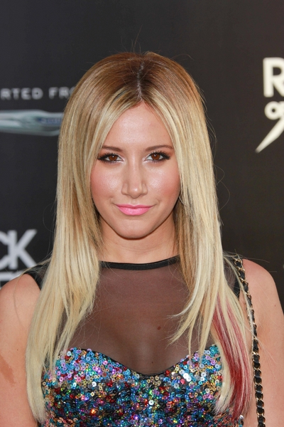 Ashley Tisdale's Long, Blonde, Straight, Funky Hairstyle