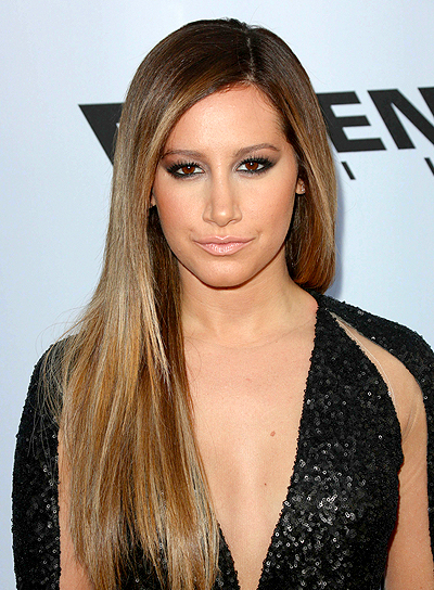 Ashley Tisdale's Long, Brunette, Straight, Chic Hairstyle